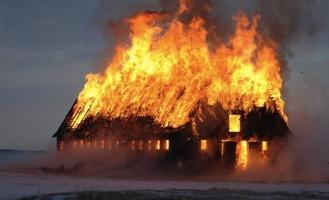 В Омской области ночью сгорел магазин