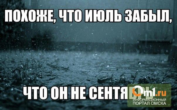 """Омичи устали от дождя, а синоптики сообщают, что он будет """"сильный, очень сильный"""""""