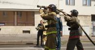 В Омске горел торговый комплекс «На Кирова»