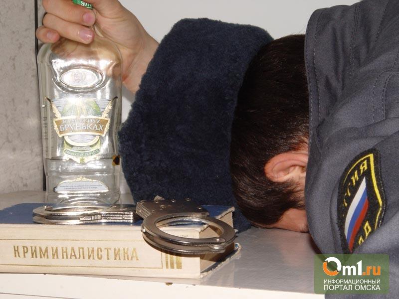 В Омской области на трассе поймали пьяного полицейского за рулем
