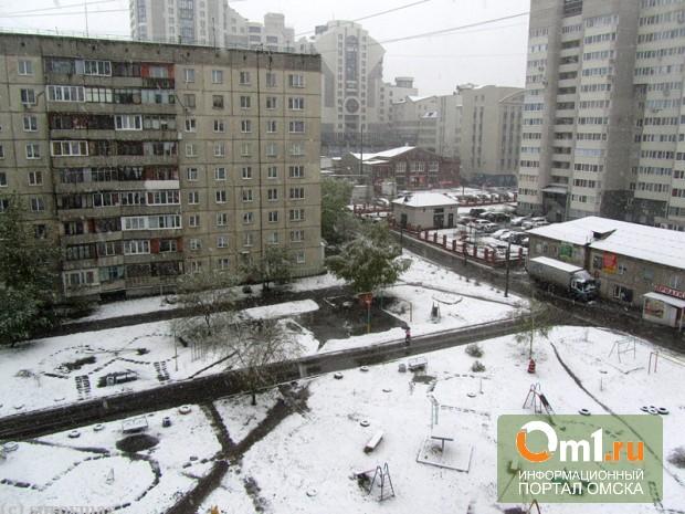 В Омске в мае выпал снег (ВИДЕО)