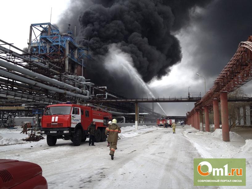 Пожар после взрыва на заводе СК в Омске потушили