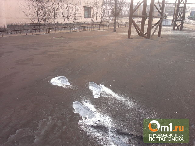 В Омске взяли на анализ пробы «черного снега»
