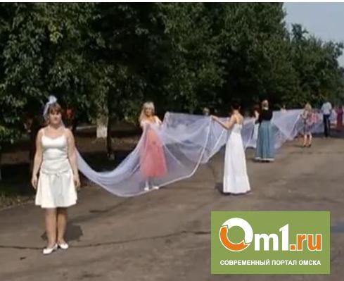 Самая длинная фата в мире длиной в 3,5 км обошлась омичке в 200 тысяч рублей