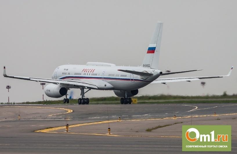 Омский аэропорт обслуживает в среднем до 2,4 тысяч пассажиров в день
