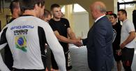 Виктор Назаров побывал на тренировке Шлеменко