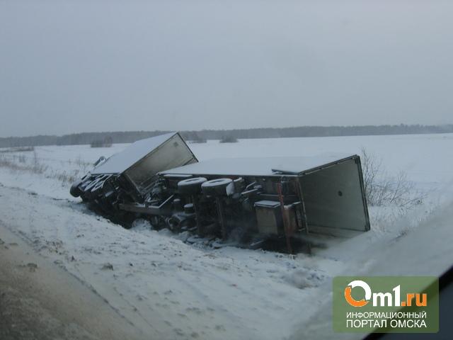 На трассе «Омск-Тюмень» перевернулась фура: погиб пассажир