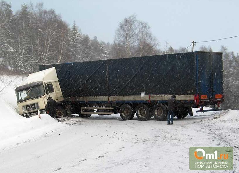 В Омской области легковушка влетела под фуру