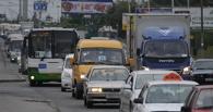 Омичи стоят в пробках на улице Красный Путь и 70 лет Октября