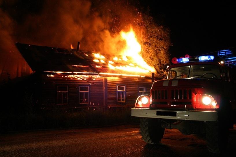 В Омской области в огне погибли двое мужчин