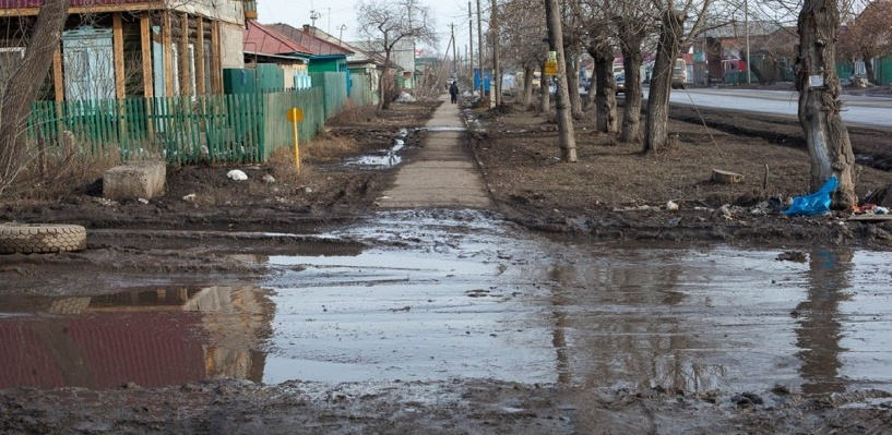 В Омске не собираются асфальтировать частный сектор