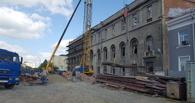 В здании «Саламандры», где разместится омский «Эрмитаж», приступили к бетонированию перекрытий