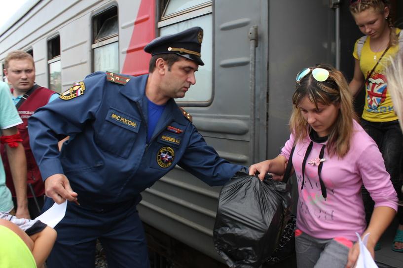 В Омск прибыли 709 беженцев с Украины