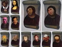 Испанцы увлеклись фотожабами на фреску с Иисусом–«волосатой обезьяной»
