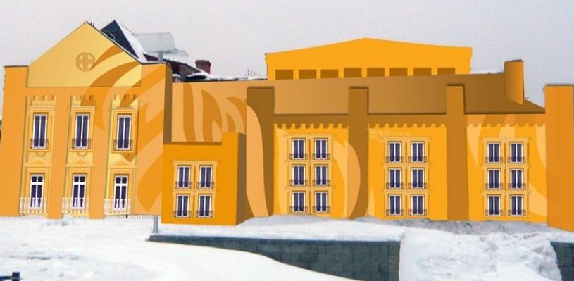 К 300-летию Омска фасады домов могут затянуть цветной сеткой