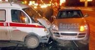 В Омске «скорая помощь» столкнулась с Porsche Cayenne