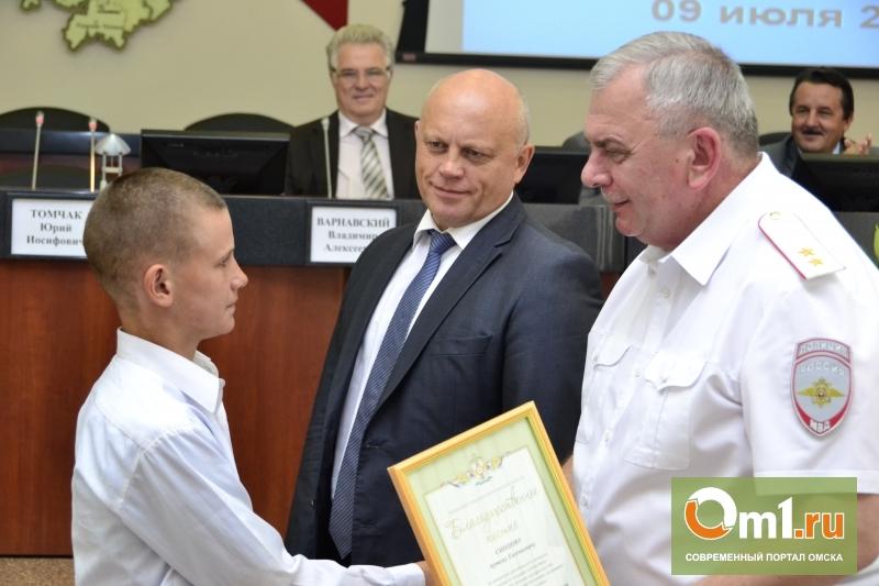 Назаров и Томчак наградили омских волонтеров, искавших убитую Лизу Бачевскую