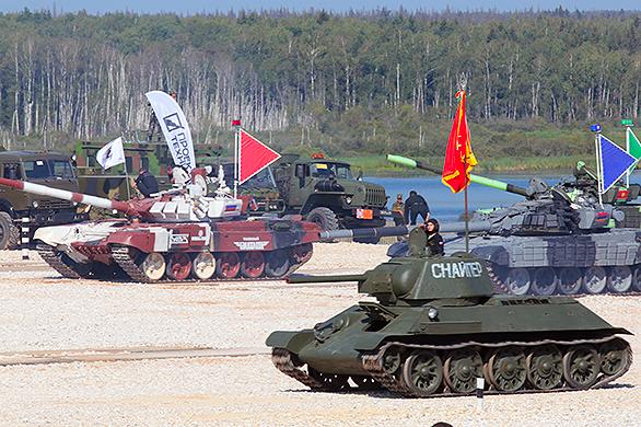 Российский экипаж победил на первом этапе ЧМ по танковому биатлону