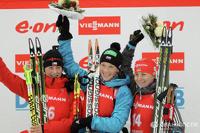 Сборная России укрепилась на первом месте Кубка мира по биатлону