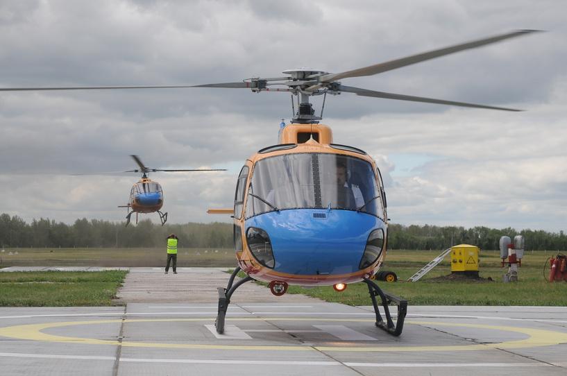 Два французских вертолёта поступили в Омский лётно-технический колледж