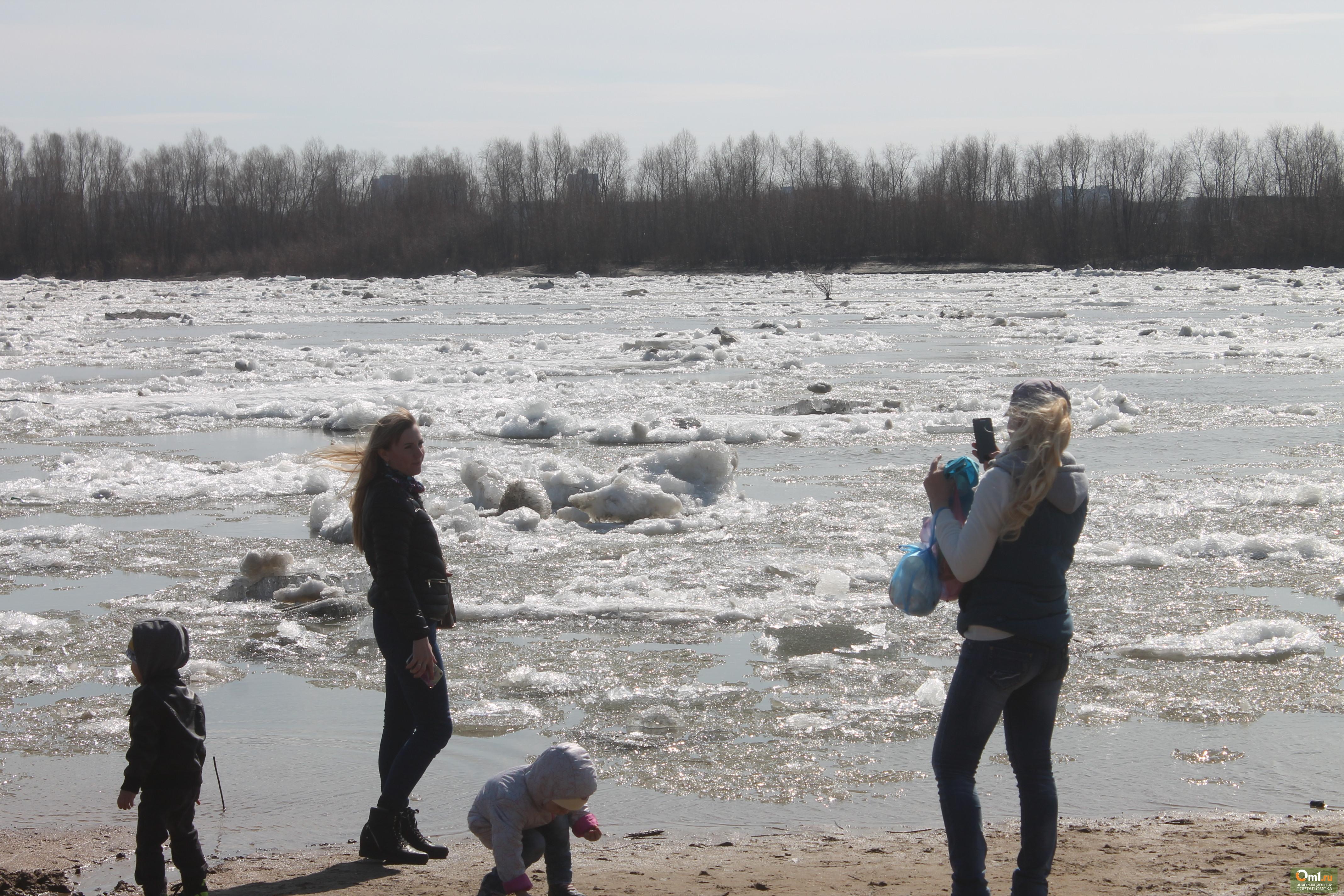 ВОмске наИртыше уже начался ледоход