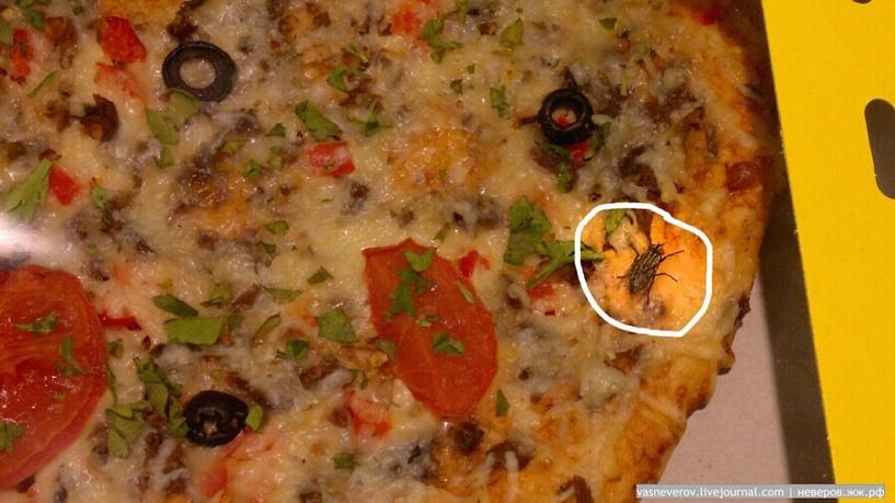 Омич нашел муху в пицце из «Магнита»