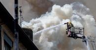 В Омске загорелась гимназия. Эвакуированы 459 человек (фото)