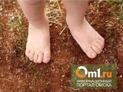 В Омске приставы нашли на улице босую двухлетнюю девочку