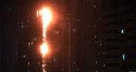 В Дубае горел самый высокий в мире небоскреб «Факел»