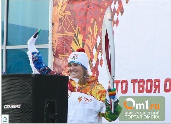 Жители Левобережья в Омске бежали за факелоносцами