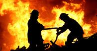 В Омске ночью долго горел строящийся павильон
