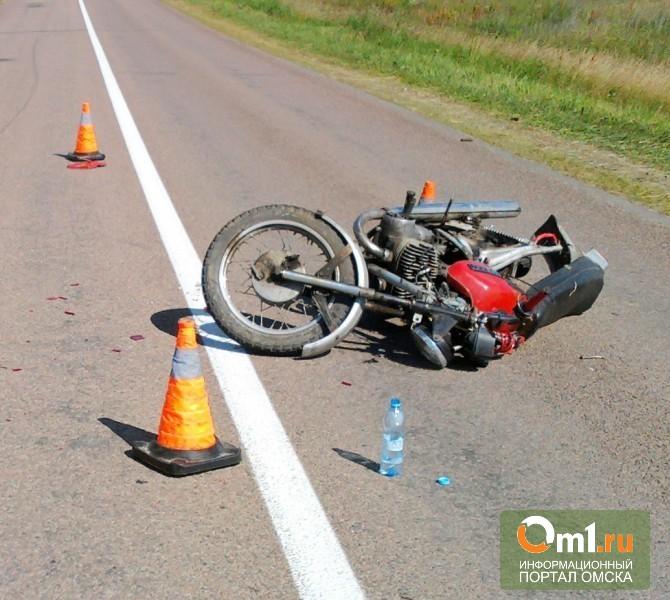 В Омской области в ДТП из-за пьяного мотоциклиста пострадала школьница