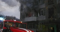 В Омске на пожаре чуть не погиб человек