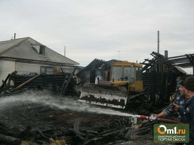 Добровольцы помогли тушить пожар в Омской области