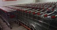 В Омске жулик пытался обокрасть гипермаркет с помощью тележек-двойников