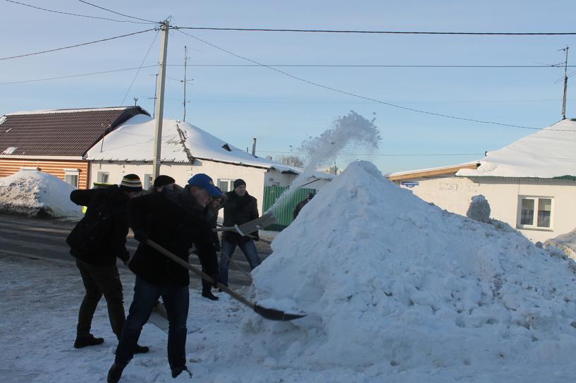 Ice Bucket Challenge по-омски: ЛДПРщики бросили вызов депутатам на уборку снега