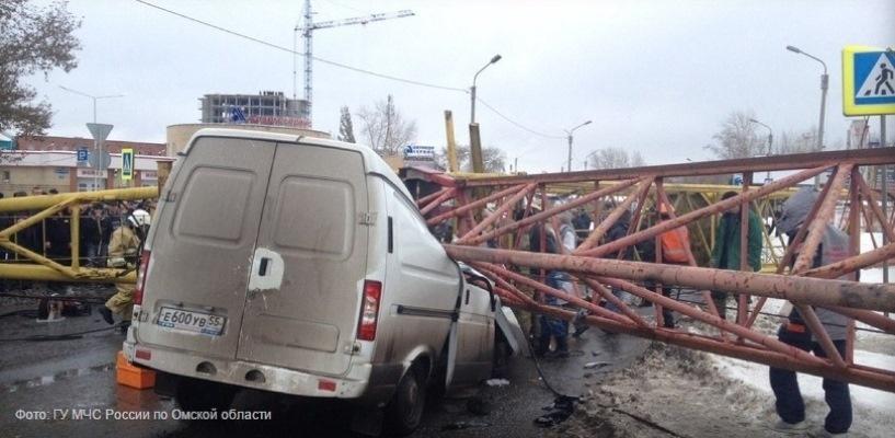 Задержаны подозреваемые по делу о падении башенного крана в Омске