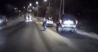Появилось видео полицейской погони за угнанным с автомойки Jeep Grand Cherokee в Омске