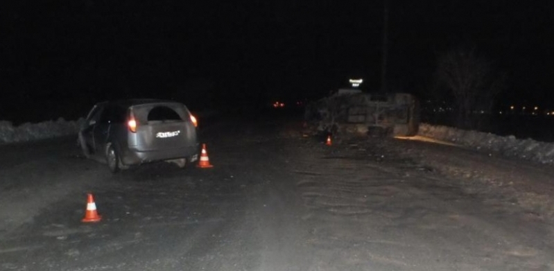 В Омске пьяный водитель протаранил маршрутку с пассажирами