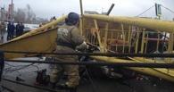 Расследование окончено: башенный кран упал на машины в Омске из-за схода с рельсов