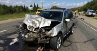 На трассе «Омск — Черлак» BMW столкнул «семерку» в кювет