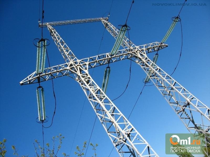 Под Омском крановщик погиб, задев высоковольтные провода
