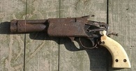 Омич нашел в Старом Кировске самодельный револьвер