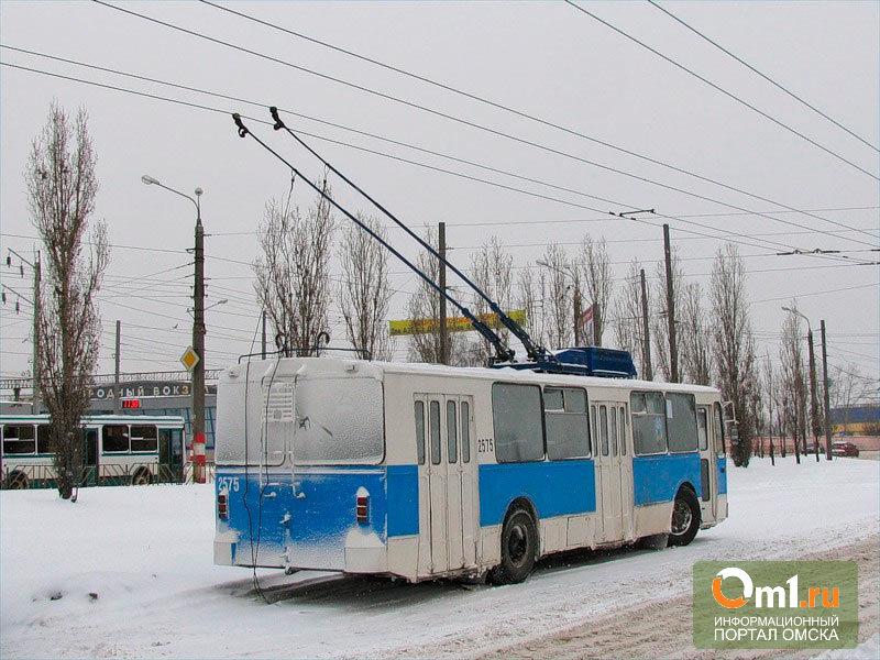 В Омске водитель троллейбуса № 67 ушиб свою пассажирку