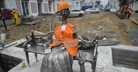 Омскую «Любочку» вернули на место и теперь она носит костюм строителя (ФОТО)