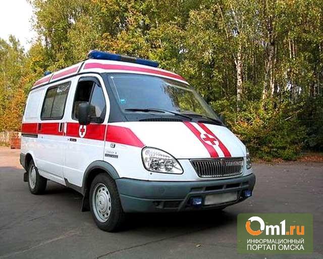 В Омске автоледи на иномарке врезалась в пассажирскую «Газель»