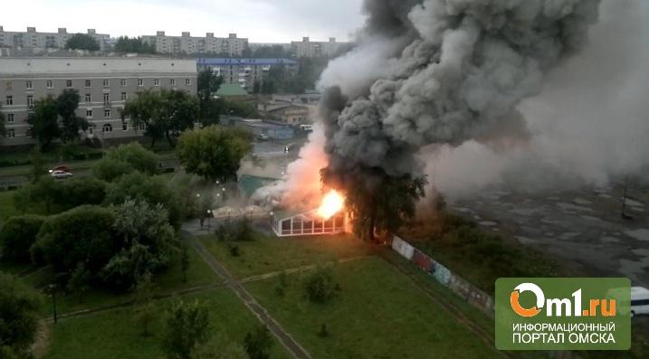 В Омске сгорело кафе «Коралл»