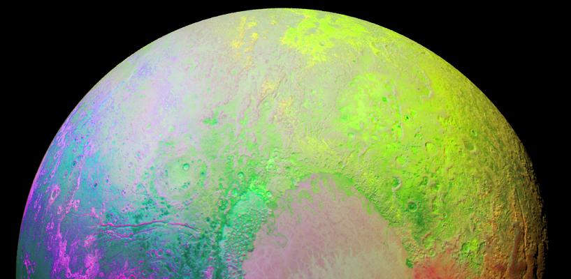 NASA сфотографировало «психоделический» Плутон