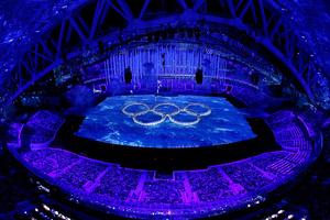 1500 омичей посмотрели закрытие Олимпиады в СКК Блинова