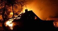 В Омске сгорели два частных дома: погиб мужчина